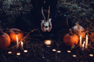 Velas en Halloween