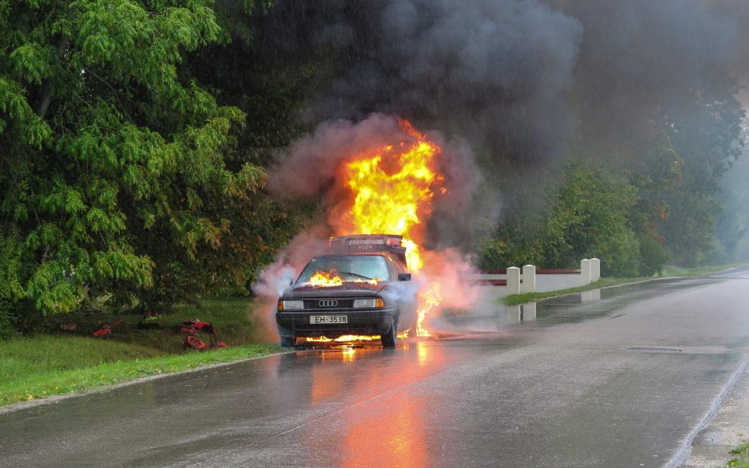 Extintores en vehículos