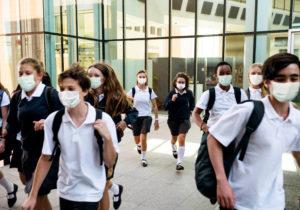 Simulacro de incendio en colegios